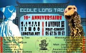 10ème anniversaire de l'école Long Tao. Longtao
